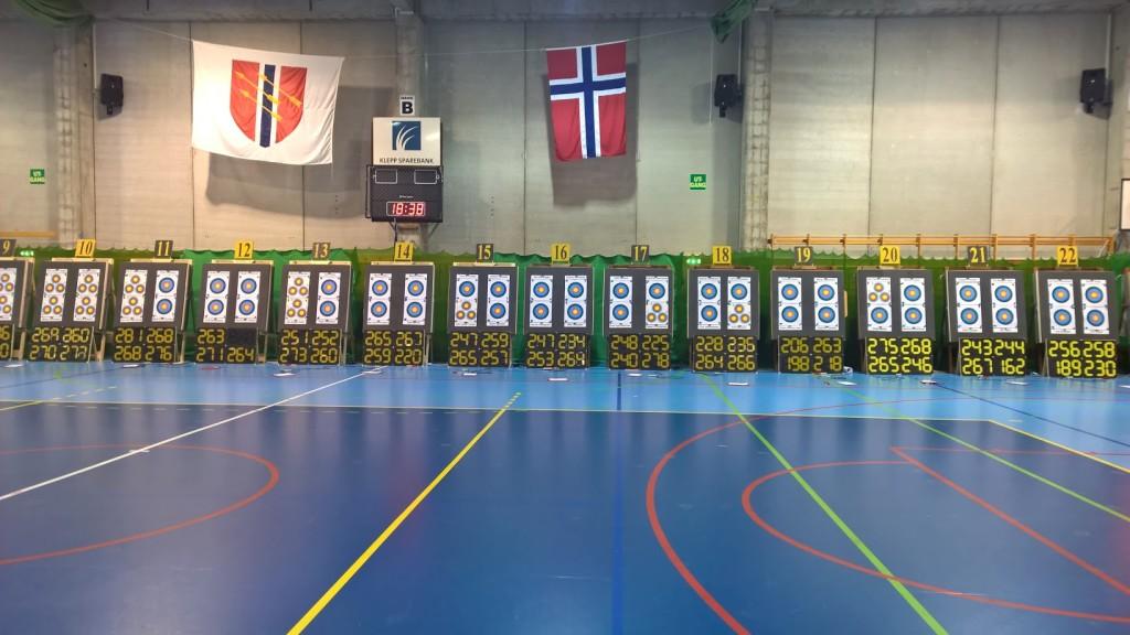 Banen ved NM i 2015 hos Klepp bueskyttere.